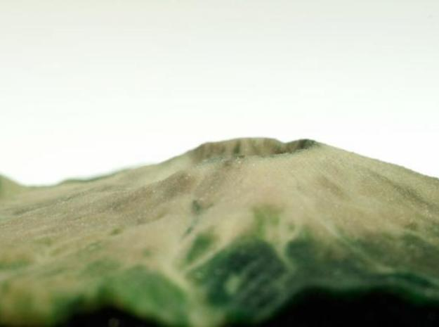 Full Color Mt. St. Helens Model 3d printed printed object - crater closeup 3