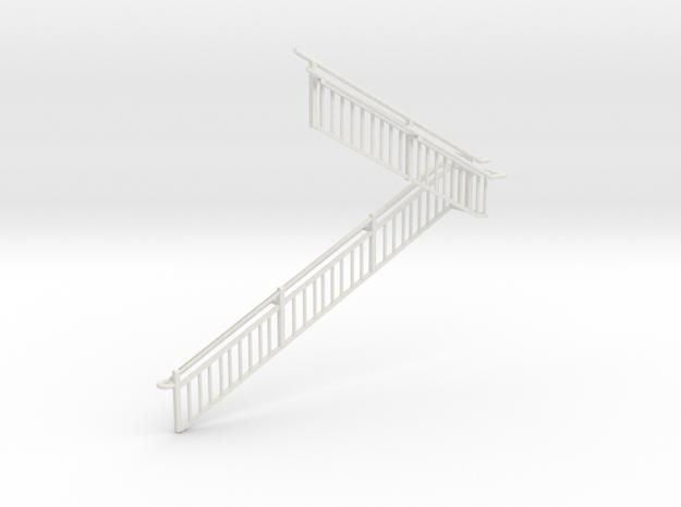 MOF Stair Railing#11 in White Natural Versatile Plastic