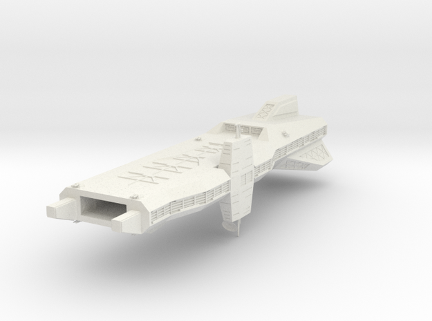 Wing Commander  Yorktown-class Light Carrier in White Strong & Flexible