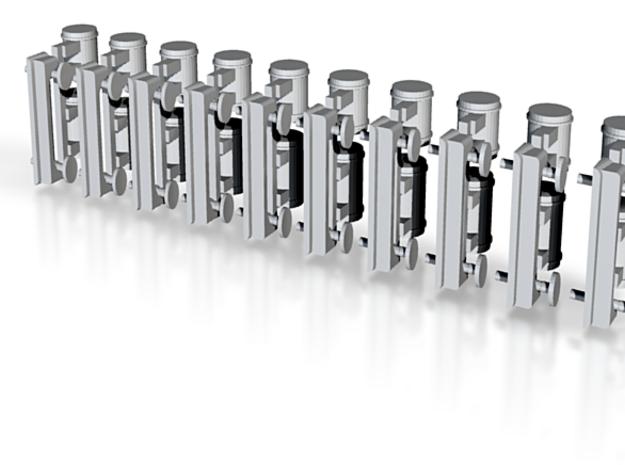 Devon Belle FUD parts (buffers, tanks) 1:148 3d printed