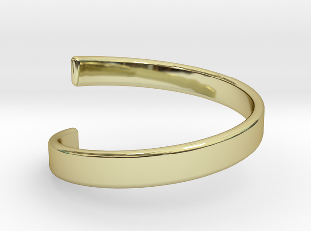 Spiral Ring 6.5 in 18k Gold Plated Brass