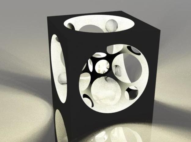 Cube !Spheres 3d printed What happen if you put a light bubble in the middle ?