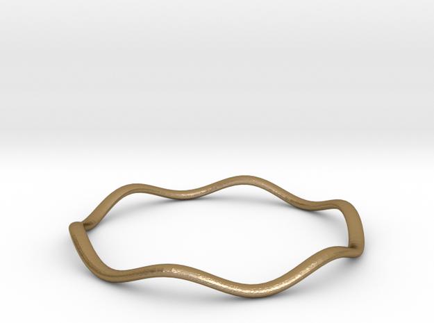 Onda Stack Steel Bracelet in Polished Gold Steel: Medium