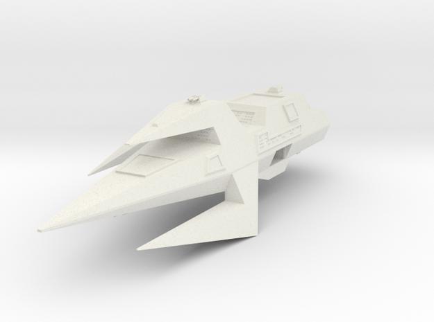 Wing Commander Kilrathi Ralarrd-Class Light Destro in White Natural Versatile Plastic