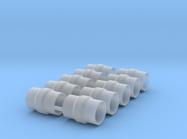 BURNS MUFFLER X 5 in Smooth Fine Detail Plastic