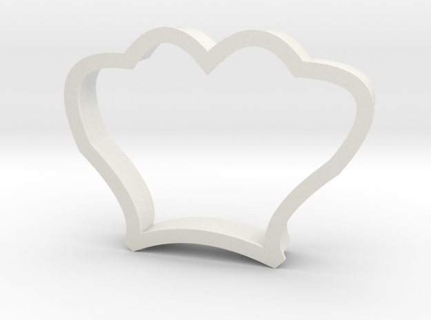 Seashell Cookie Cutter in White Strong & Flexible