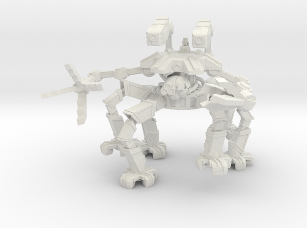 Spider Crawler Mech in White Natural Versatile Plastic