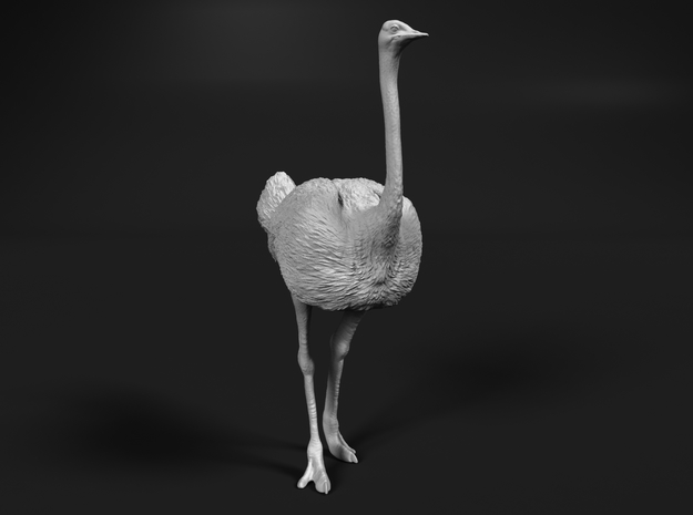 Ostrich 1:25 Standing Calm in White Strong & Flexible