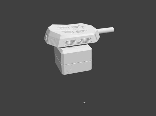 Pinball of the Undead HeavyTurret Miniature in White Strong & Flexible