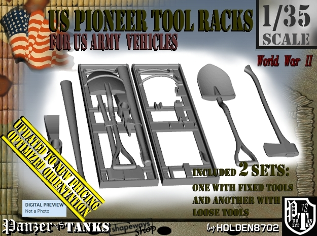 1-35 US Pioneer Tool Rack SET101