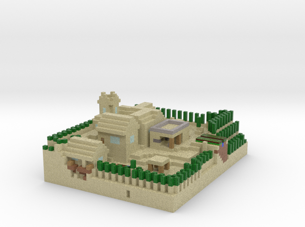 Minecraft Desert Village in Full Color Sandstone