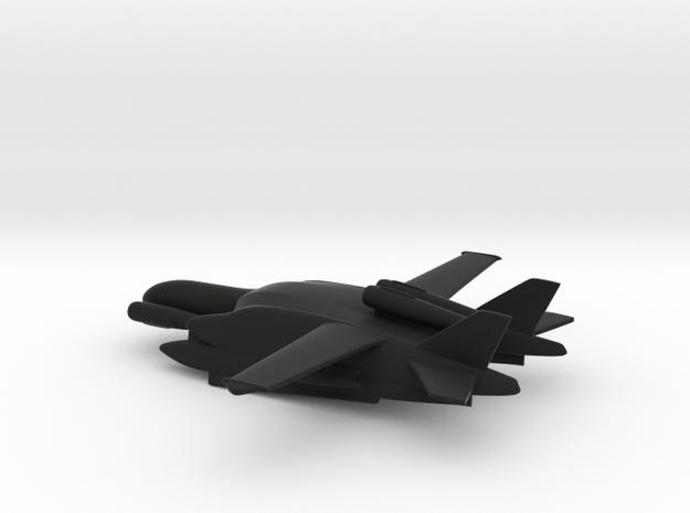 Beriev VVA-14 M1P (Rigid Pontoons) in Black Natural Versatile Plastic: 1:400