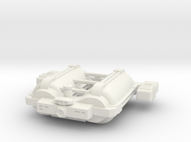 Omni Scale General Large Freighter w/Short Pods SR in White Natural Versatile Plastic