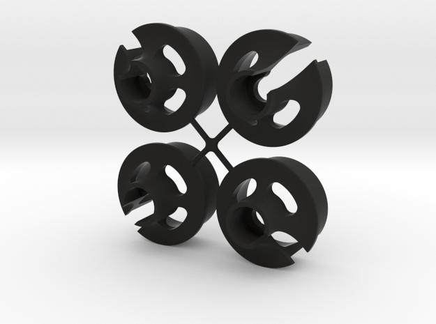 TLR Spring Cup V2 - x4 in Black Natural Versatile Plastic