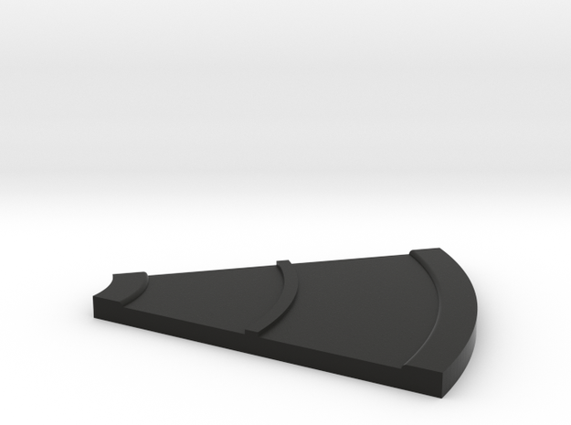 Road Curve 45 N Scale in Black Natural Versatile Plastic