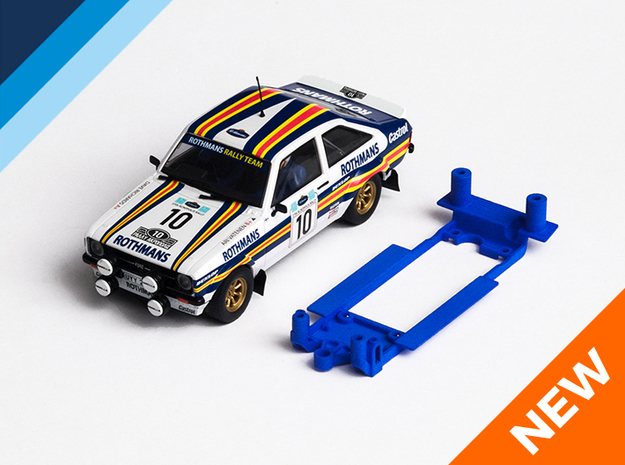 1/32 Scalextric Ford Escort Mk2 Chassis for IL pod