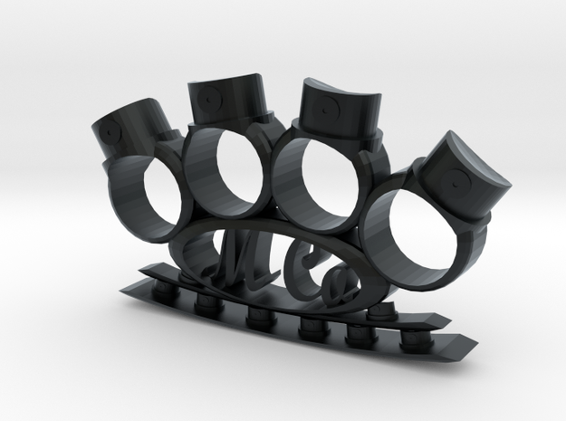 Spray Knuckles in Black Hi-Def Acrylate