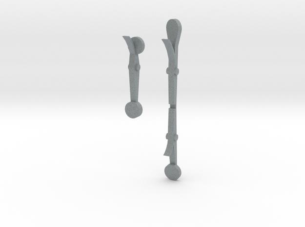 Keys for simplified MIM2609 oboe in Polished Metallic Plastic