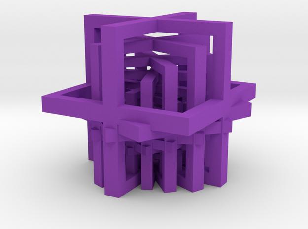 Stairways in Purple Processed Versatile Plastic