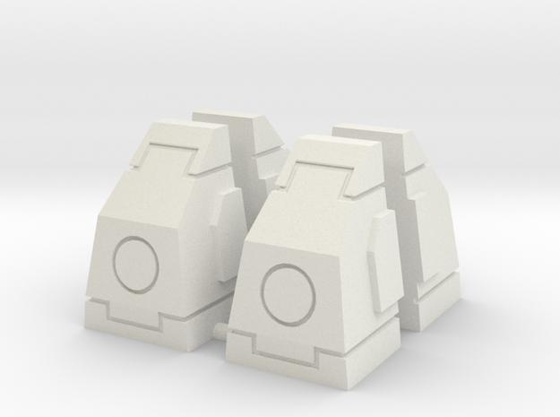 SciFi Milestones or Pillars Slanted - Large in White Natural Versatile Plastic