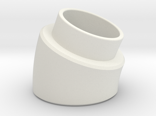 22.5 Deg Elbow in White Natural Versatile Plastic