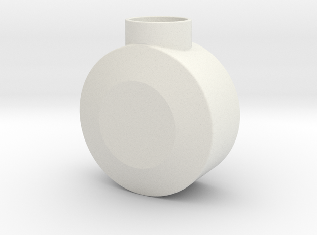 Round Pommel in White Natural Versatile Plastic