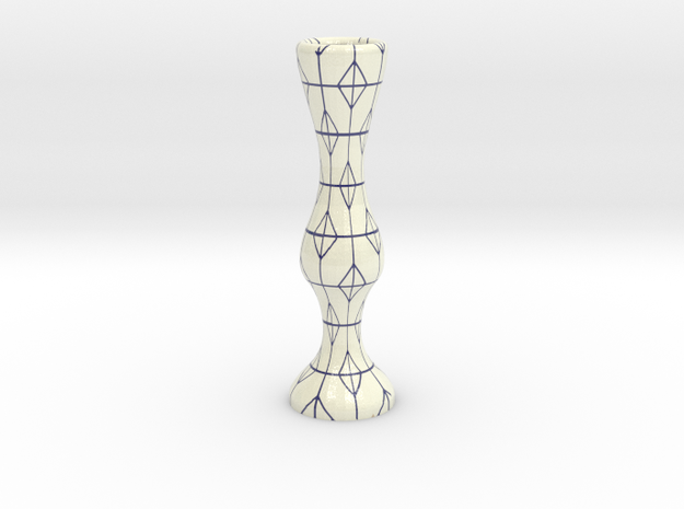Birthday Candle Holder in Coated Full Color Sandstone: Small