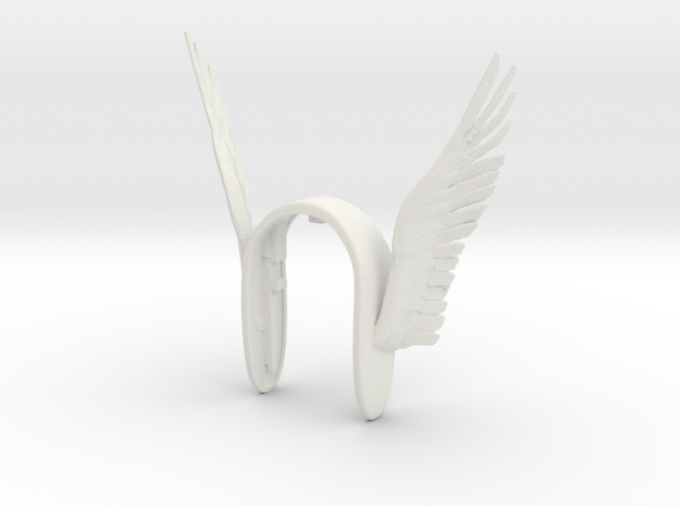 WINGS XL KEY FOB  in White Natural Versatile Plastic