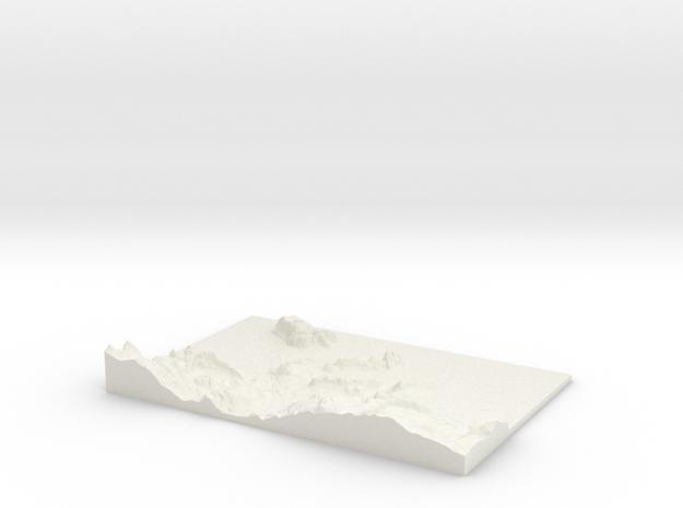 Llandudno W273 S375 E288 N385 in White Natural Versatile Plastic