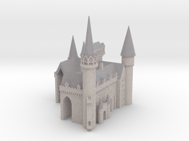 1/720 Hogwarts - Courtyard in Full Color Sandstone