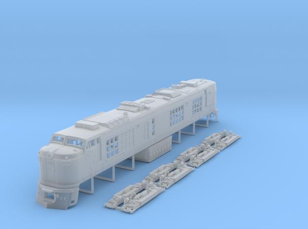 TT Scale Propane Turbine Locomotive in Smooth Fine Detail Plastic