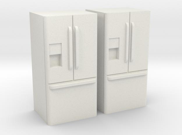 3-Door French Door Refrigerator 1-64 Scale