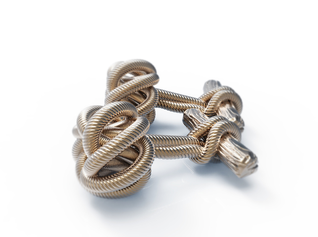 Knot cuffs in Raw Silver
