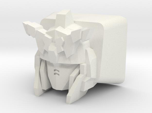 Unicorn Gundam Cherry MX Keycap (Short Horns) in White Natural Versatile Plastic