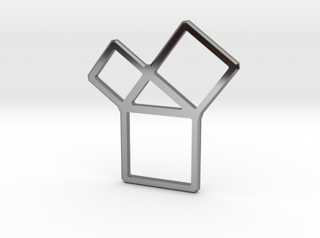 Pythagorean Theorem in Fine Detail Polished Silver