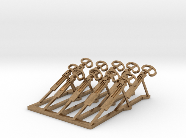 HO 39 In X 4 - 36 In X 2 - 30 In X 4 Signal Arms in Natural Brass