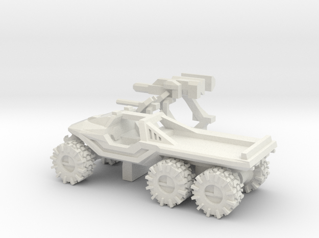 All-Terrain Vehicle 6x6 with weapons in White Strong & Flexible