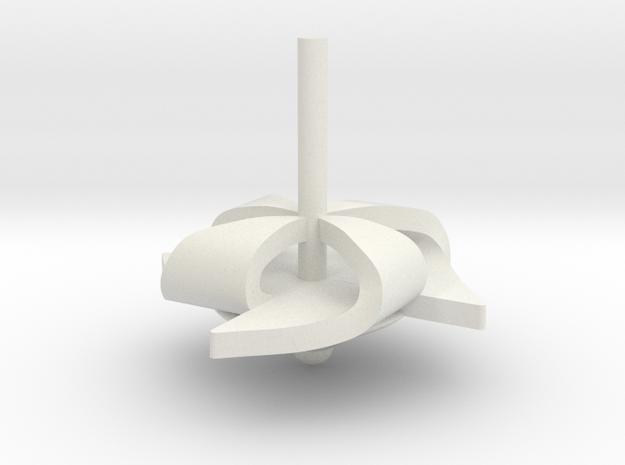 Pinwheel in White Natural Versatile Plastic