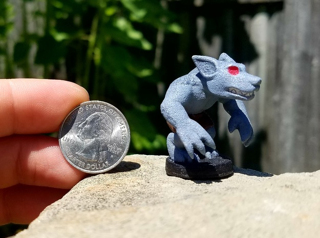Basic Werewolf (Chthonic Souls Edition) in Blue Processed Versatile Plastic