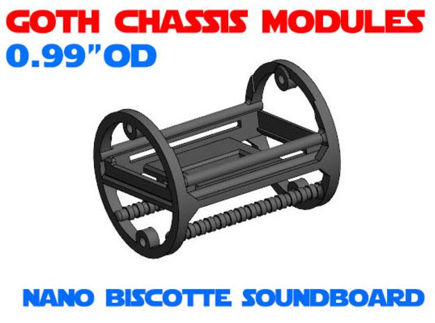 GCM099 - Nano Biscotte soundboard chassis in White Natural Versatile Plastic