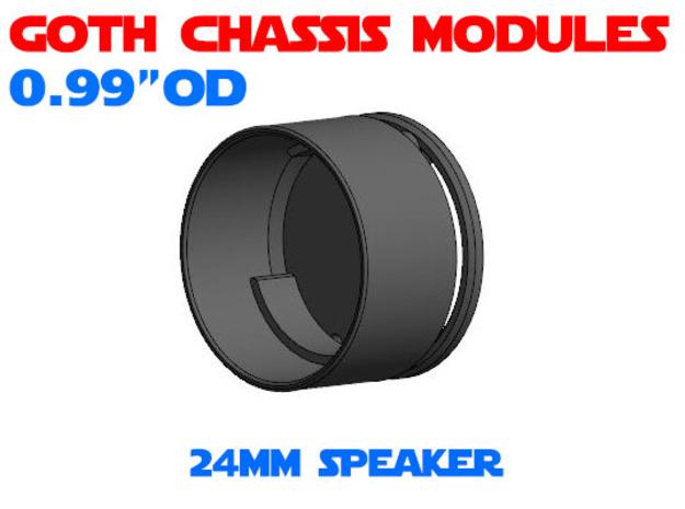 GCM099 - 24mm speaker chassis in White Natural Versatile Plastic