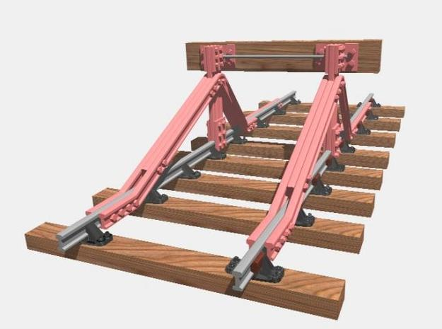 GER Railbuilt Buffer Stop 3d printed Rendered image with wooden beam