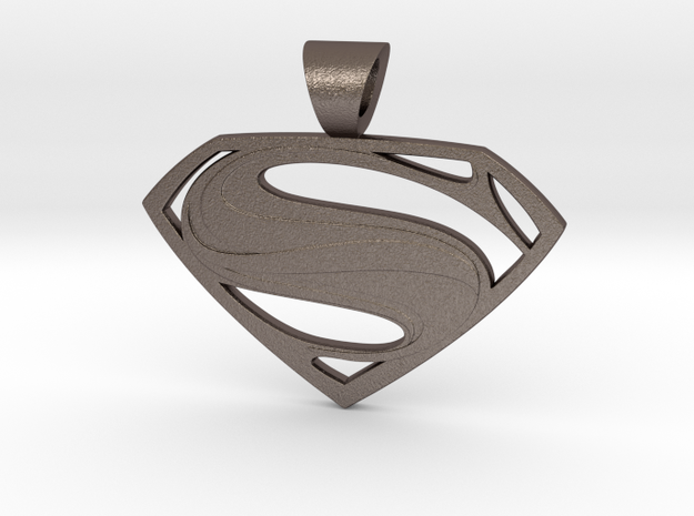 Superman pendant in Stainless Steel: Small