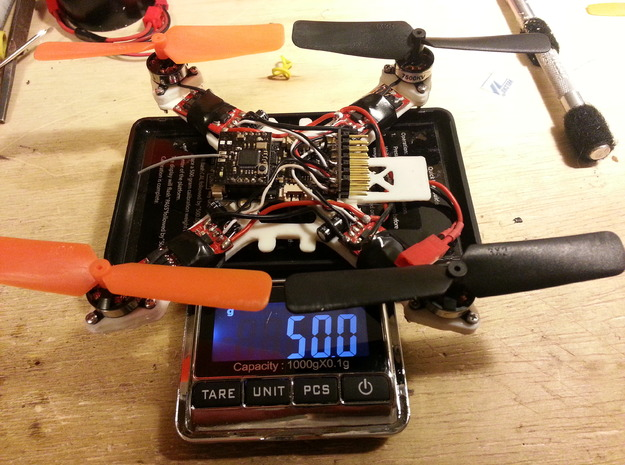 120mm Superlight Quadcopter with Gps tray 3d printed
