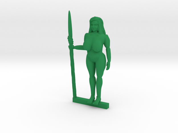 Gia of the Jungle NSFW in Green Processed Versatile Plastic