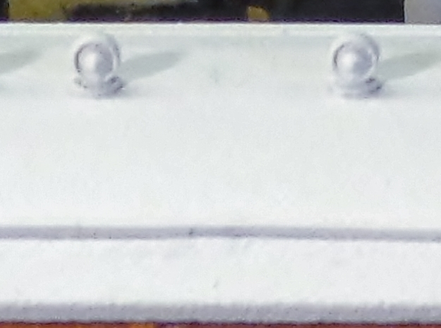 Torpedo Carriage roof vent, OO Scale. 3d printed Roof vents added to the model.