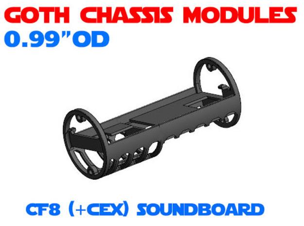 GCM099 - Crystal Focus 8 soundboard chassis in White Natural Versatile Plastic