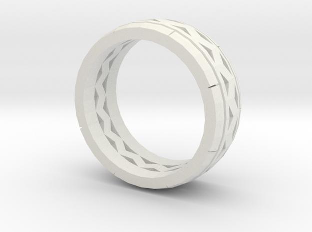 Test Ring in White Natural Versatile Plastic