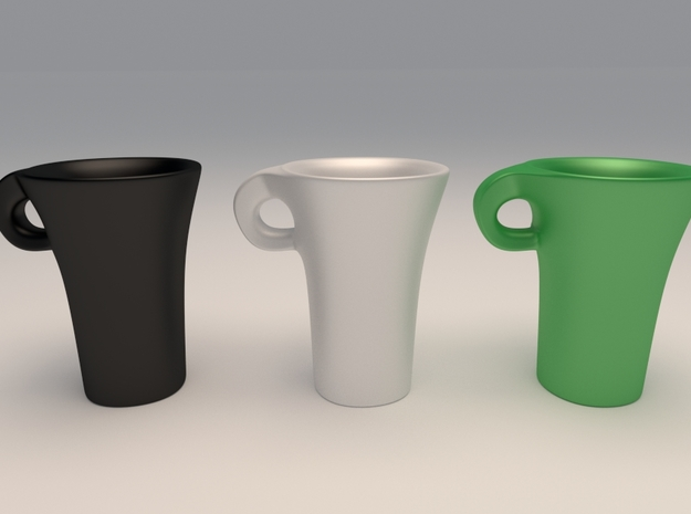 Espresso Cup (tall)2 in Gloss Black Porcelain