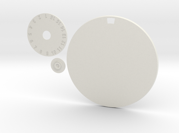 100mm Round Wound Tracking Base in White Natural Versatile Plastic